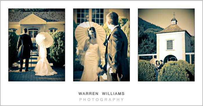 Bride and groom Morgenhof garden