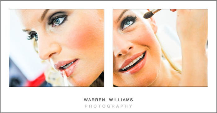 Wedding makeup mascara, lipgloss