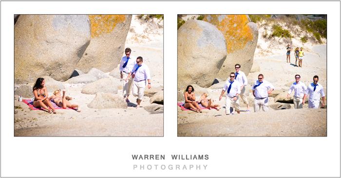 Groomsmen on beach