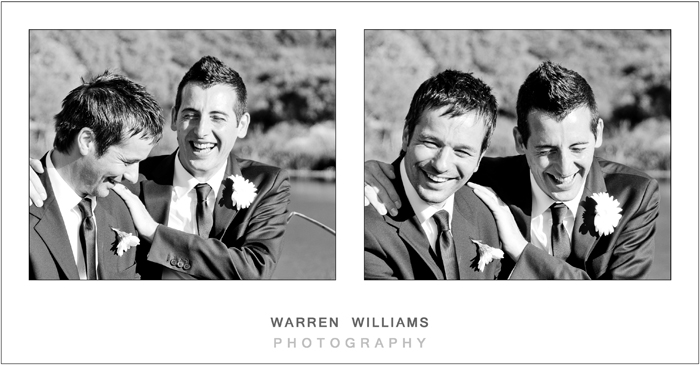 Groom and bestman, Hidden Valley, Stellenbosch