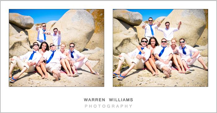 Wedding beach bums