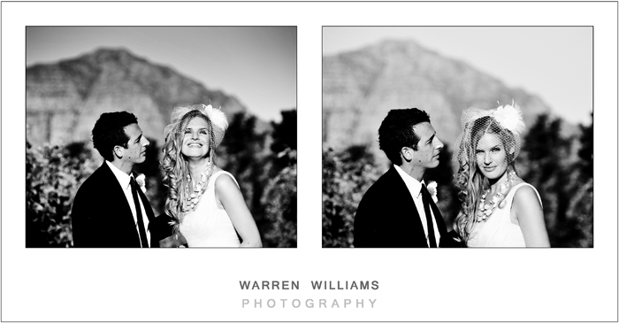 Wedding couple, Stellenbosch