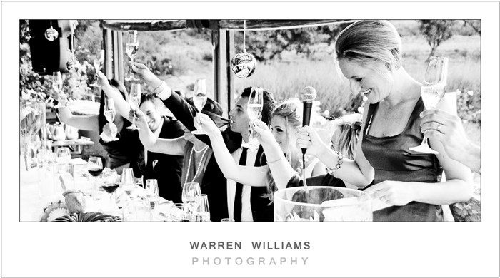 Wedding toast, Cape Town weddings