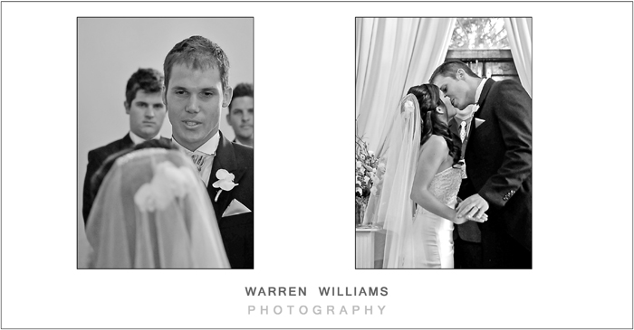 Wedding vows, first kiss