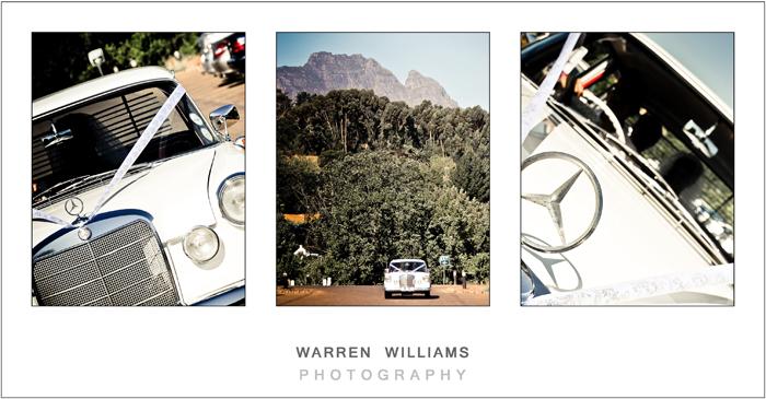 Bridal car in Stellenbosch