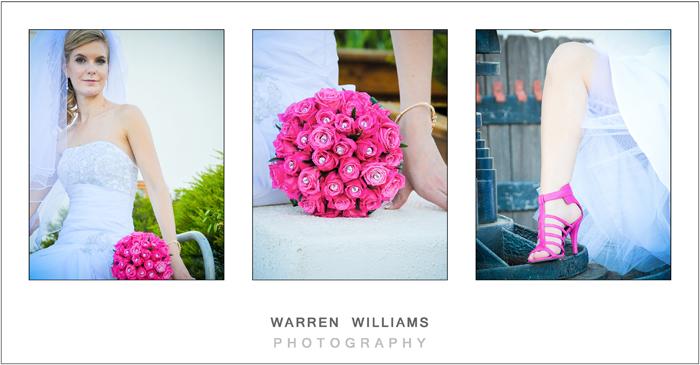 Pink bride bouquet with bride