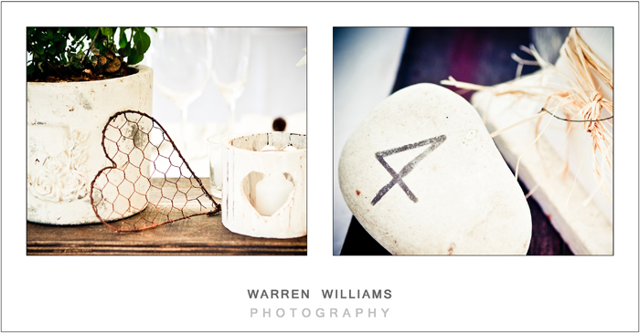 wedding table decor - Warren Williams Photography