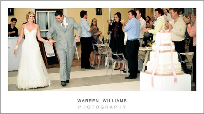 Bride and groom's reception entrance