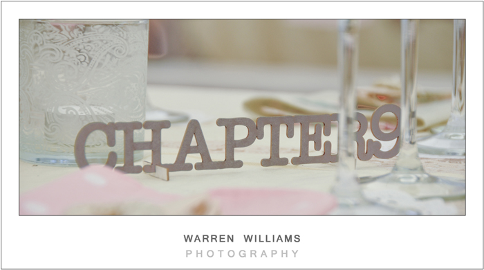 Wedding table setting number
