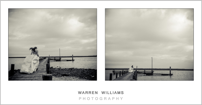 Moody jetty with bride