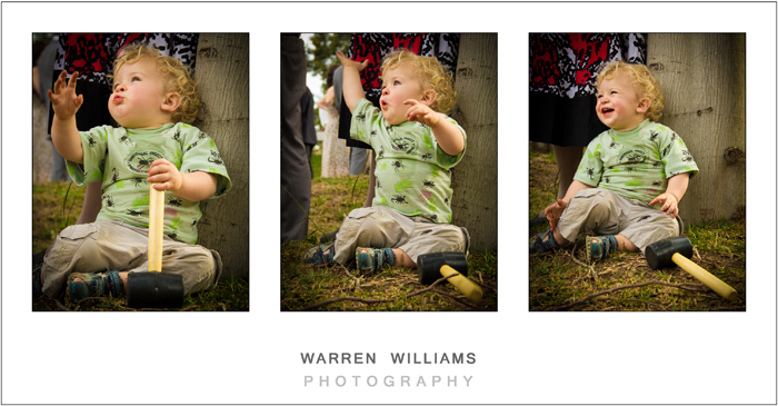 Child having fun at wedding