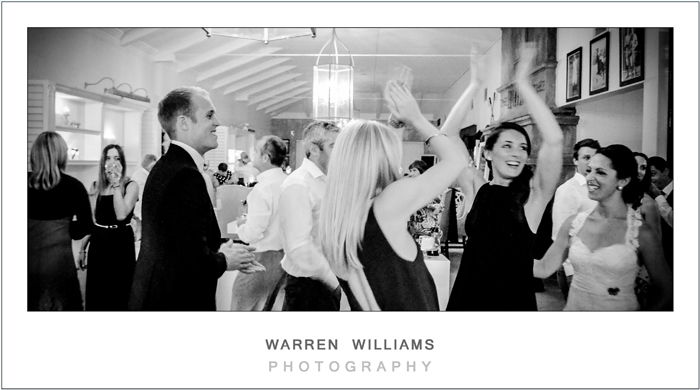 Dancing and partying at wedding