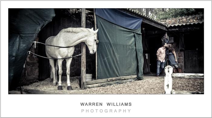 Horse-riding engagement shoot