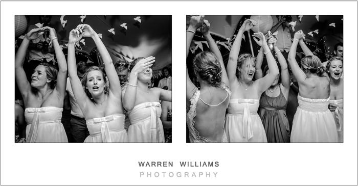 Bridesmaids partying