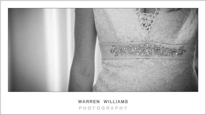 Wedding dress close-up