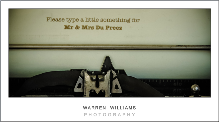 Typewriter wedding idea