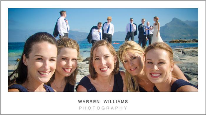 Close-up of bridesmaids