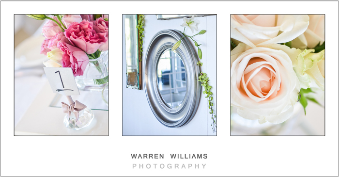Mirrors, glass, clean, chic wedding decor