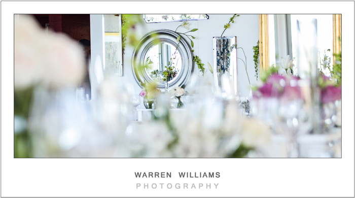 Glass, mirrors, wedding decor