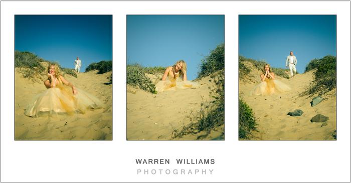 Bride on sand dune