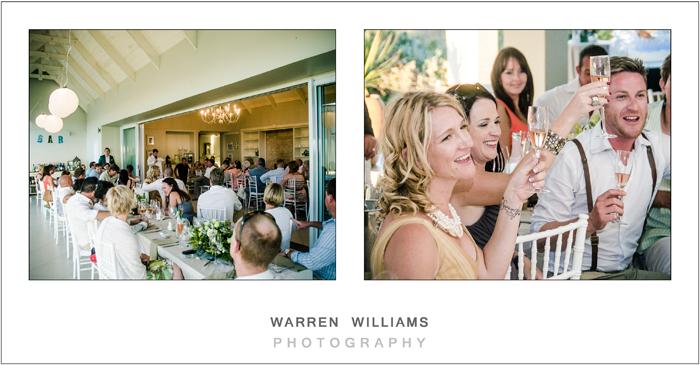 Beach house wedding reception