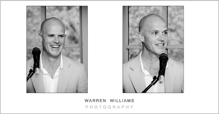 Groom speech, Warren Williams Photography