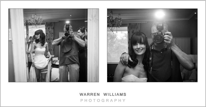 Wedding photographer and bride