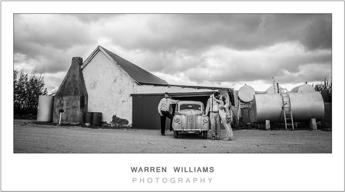 Vintage wedding car, Warren Williams Photography
