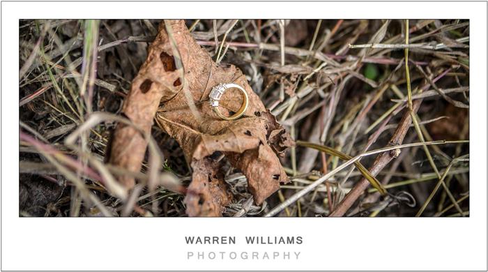 wedding ring on leaf