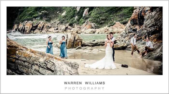 Oubos, beach wedding, Warren Williams Photography