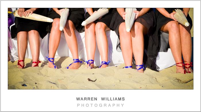 Bridesmaids legs
