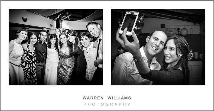 How to take a selfie at a wedding reception