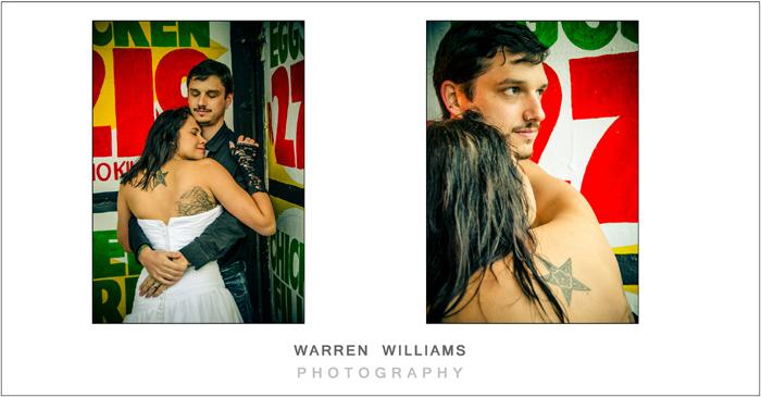 tattoo bride trash the dress