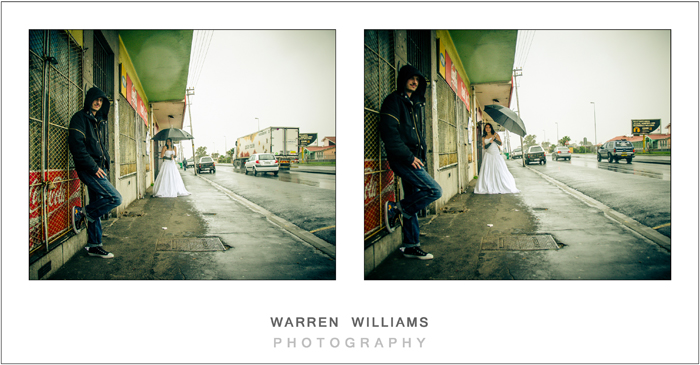 gangster style trash the dress