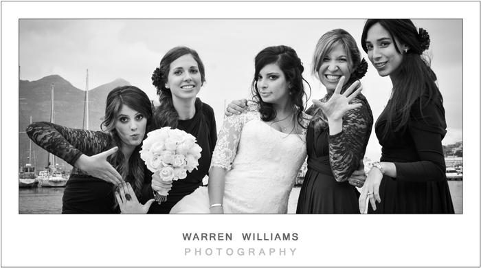 Beautiful bridesmaids having fun