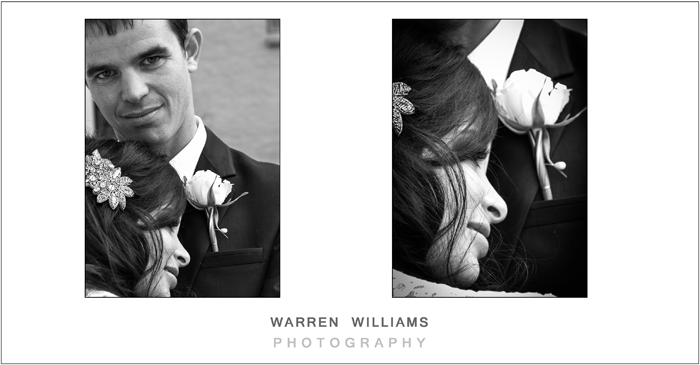 Bride and groom black & white photography