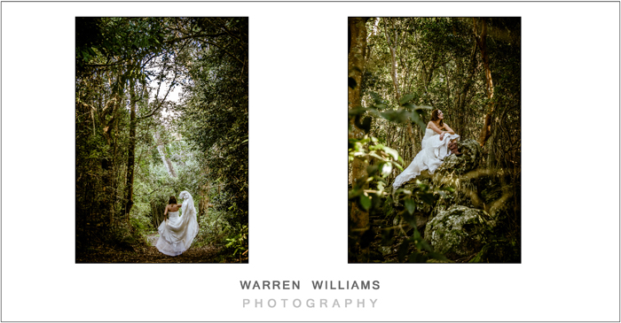 Beautiful forest setting for Trash the Dress