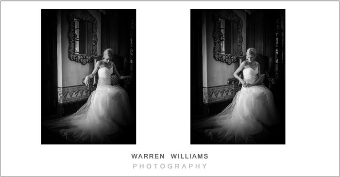 Bride at doorway natural light