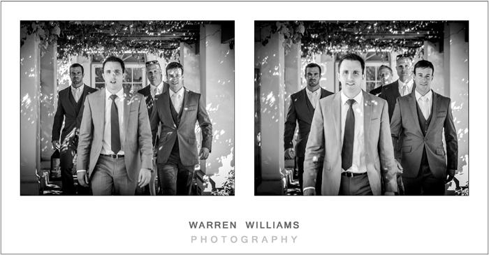 Proud groom with bestmen