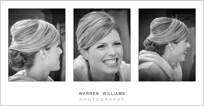 bride laughing during
