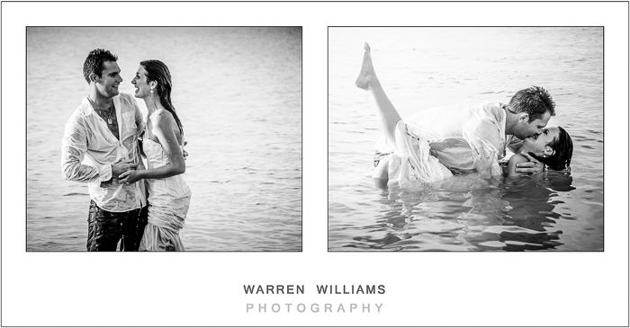 Black and white photos of trash the dress