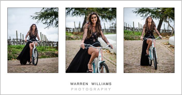 Bride on bicycle