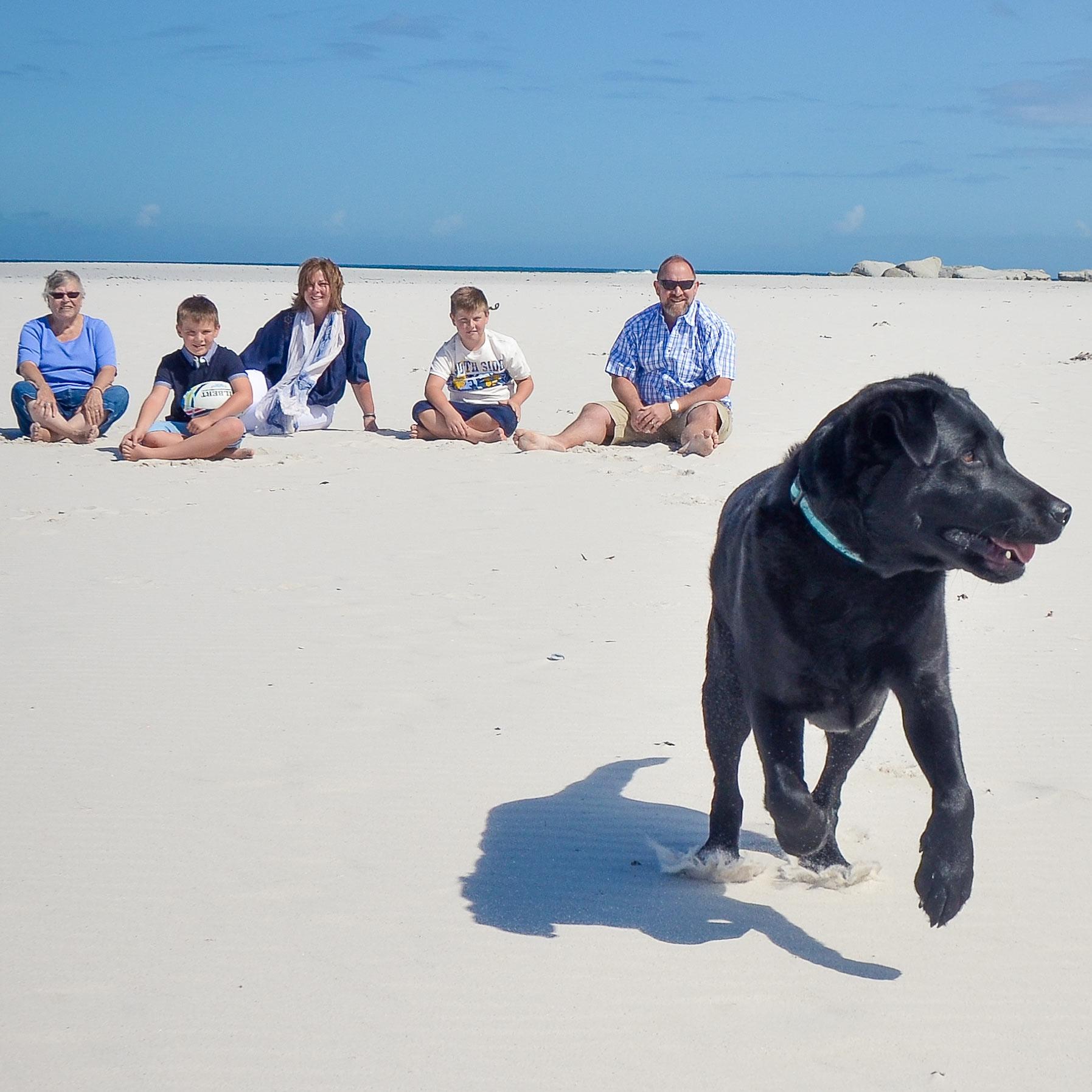 The Boudreau Family, Noordhoek Beach
