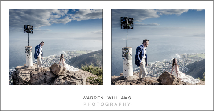 Bride and groom on Lion's Head