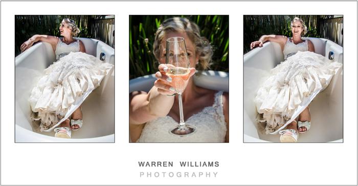 Bride in bath, Warren Williams Photography