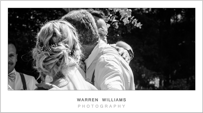 Father giving bride away, Warren Williams Photography